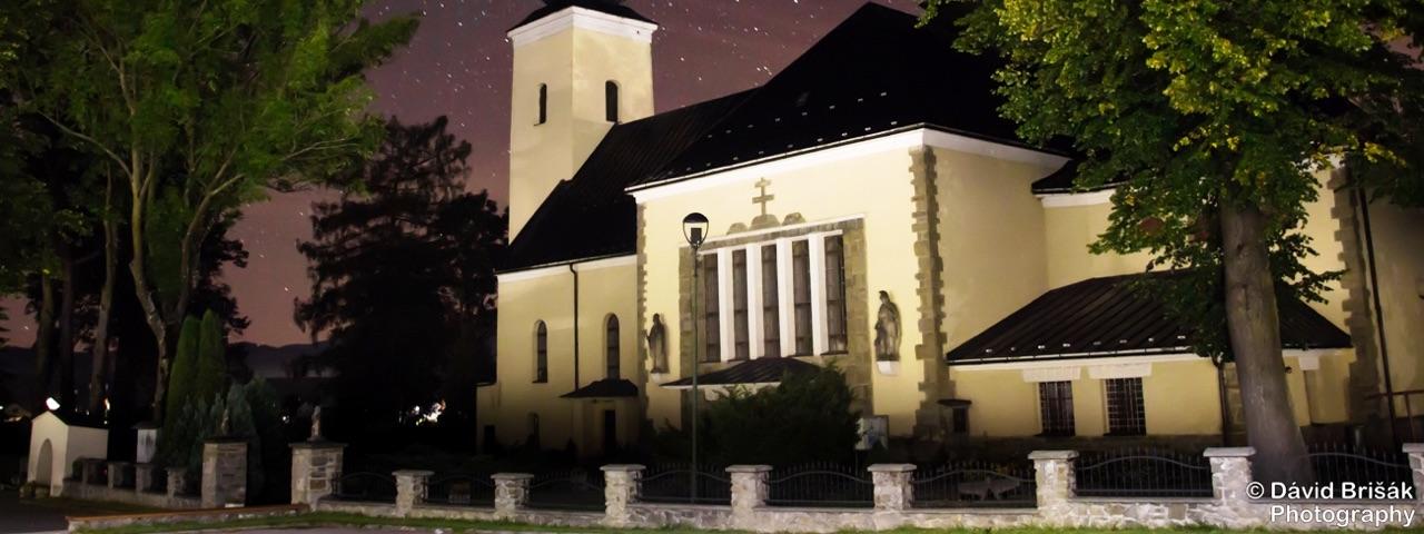 Fotka kostola Navštívenia Panny Márie vo farnosti Rabča na Orave